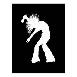Rocker Silhouette Postcard