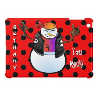 Rocker Snowman Customizable Device Case iPad Mini Case