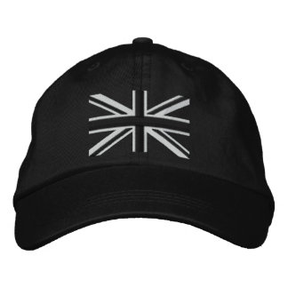 Rocker Union Jack Flag England Swag Embroidery Embroidered Cap