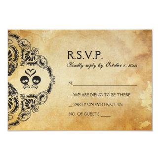 Rocker Wedding RSVP - Skull & Crossbones Card