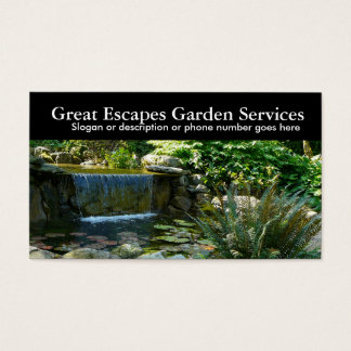 Rockery Water Gardening Landscaper Business Business Card