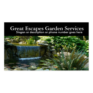 Rockery Water Gardening Landscaper Business Pack Of Standard Business Cards