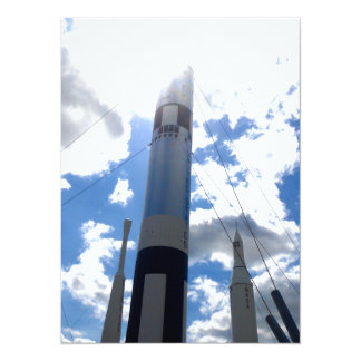 Rocket 14 Cm X 19 Cm Invitation Card
