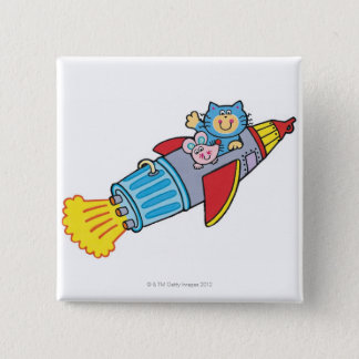 Rocket 15 Cm Square Badge