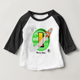 Rocket 1st Birthday Custom Baby T-Shirt