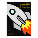 rocket, 4...3...2...1!It is time for birthday f... 13 Cm X 18 Cm Invitation Card