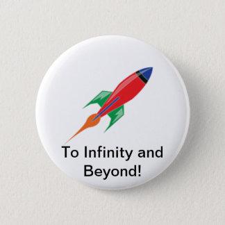Rocket 6 Cm Round Badge