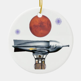 Rocket Balloon Christmas Ornament