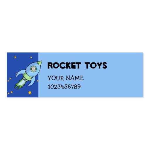 Rocket blue green small Business Card