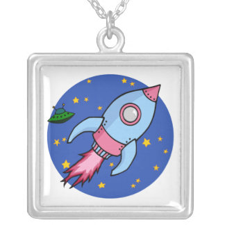 Rocket blue pink Necklace
