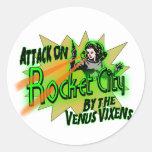 Rocket City Classic Round Sticker