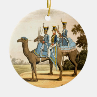 Rocket Corps and Dromedary Corps, Bengal Army 1817 Round Ceramic Decoration