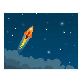 Rocket Drawing Postcard