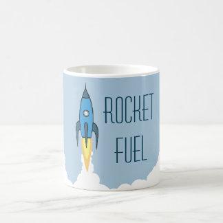 Rocket Fuel Classic White Coffee Mug