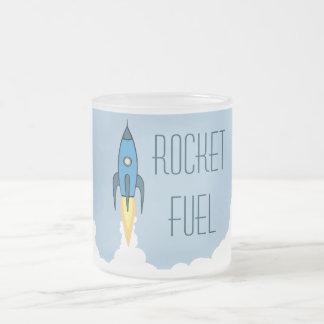 Rocket Fuel 10 Oz Frosted Glass Coffee Mug