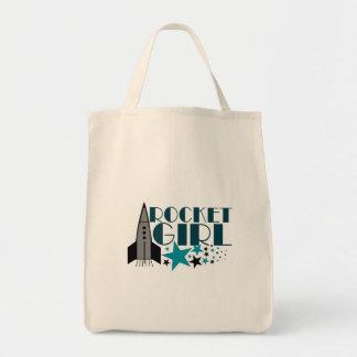 Rocket Girl Grocery Tote Bag