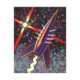 Rocket Guide Star Canvas Print
