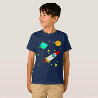 Rocket in Space Kids'' Hanes TAGLESS® T-Shirt