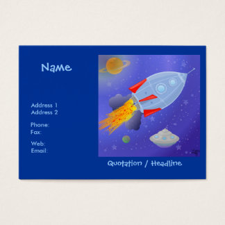 Rocket into Space Chubby Profile Card