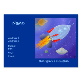 Rocket into Space Chubby Profile Card Business Card Template