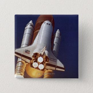 Rocket Launch 15 Cm Square Badge