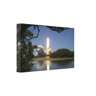 Rocket launch canvas print. stretched canvas prints