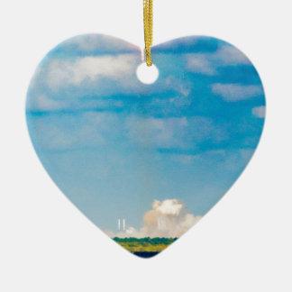 Rocket Launch Ceramic Heart Decoration