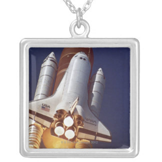 Rocket Launch Silver Plated Necklace