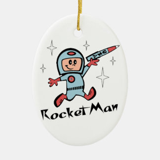 Rocket Man Christmas Ornament