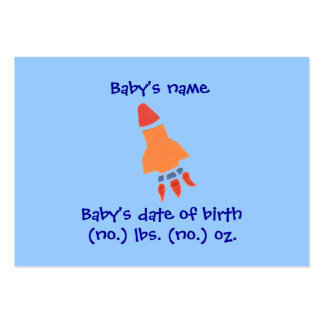 Rocket mini birth announcement photo card pack of chubby business cards