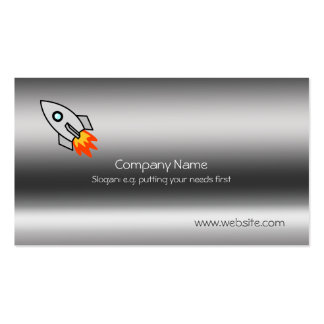 Rocket on metallic-look template pack of standard business cards