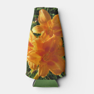Rocket Orange with Red Daylily Bottle Cooler