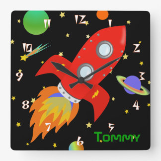 Rocket Personalized Wall Clock