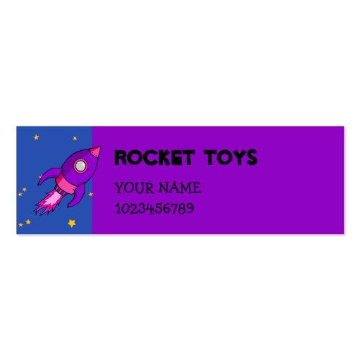 Rocket pink purple small Business Card