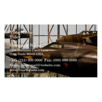 Rocket plane in manufacturing pack of standard business cards
