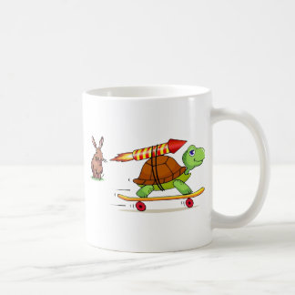 Rocket Propelled Tortoise and Hare Coffee Mug