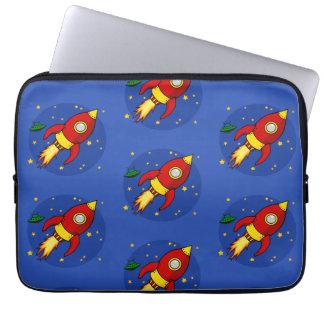 Rocket red pattern Neoprene Laptop Sleeve