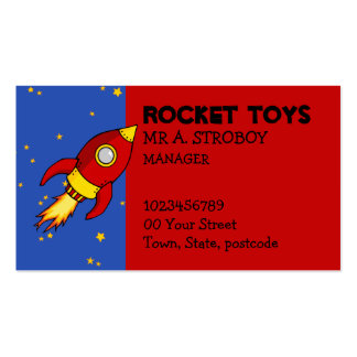 Rocket red yellow Business Card