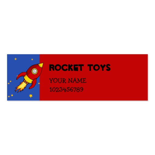 Rocket red yellow small Business Card