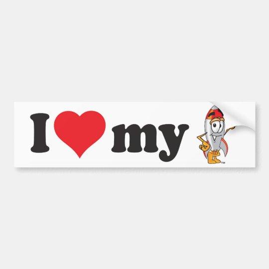 Rocket School Mascot Bumper Sticker