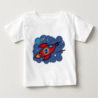 Rocket Ship 1st Birthday Baby T-Shirt