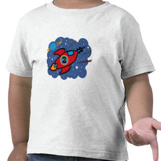 Rocket Ship 2nd Birthday T-shirts