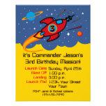 Rocket Ship 3rd Birthday Custom Invitations
