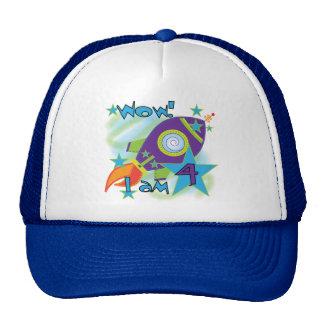 Rocket Ship 4th Birthday T-shirts and Gifts Cap