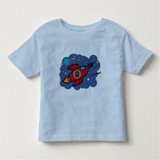 Rocket Ship 6th Birthday Toddler T-Shirt