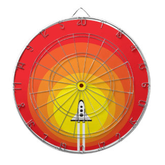 Rocket ship and the sunspot dartboard