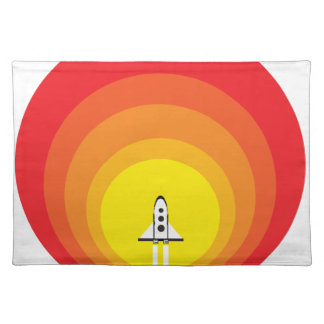 Rocket ship and the sunspot placemat