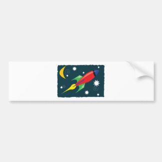 Rocket Ship Bumper Sticker