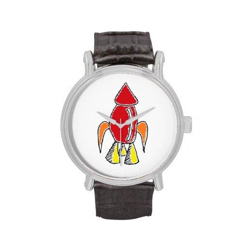 Rocket Ship Cartoon Watch