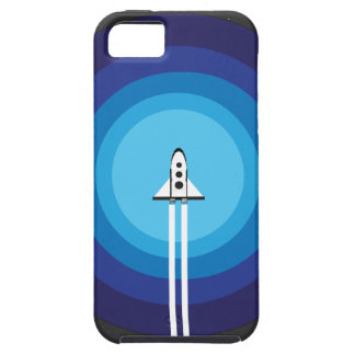 Rocket ship flies past the Blue Planet Case For The iPhone 5